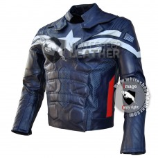 Chris Evans Captain America Motorcycle Real Leather Jacket